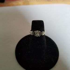 Crystal oval shaped ring